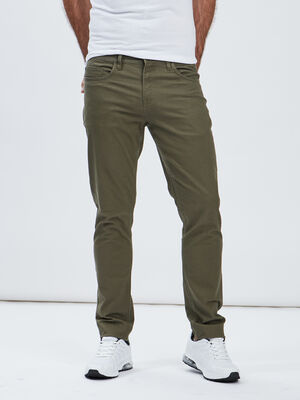 Pantalon slim vert kaki homme