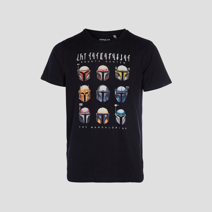 T-shirt The Mandalorian homme noir