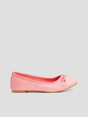 Ballerines a paillettes rose fille