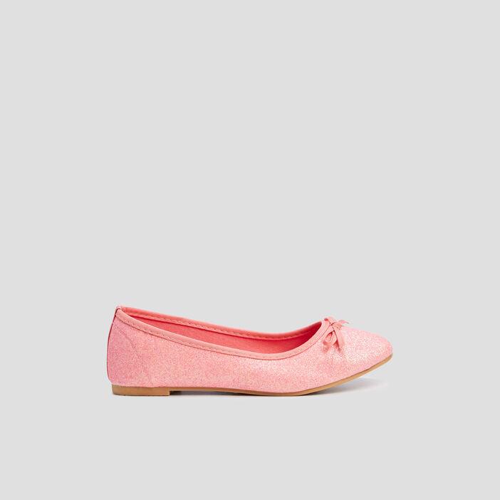 Ballerines à paillettes fille rose
