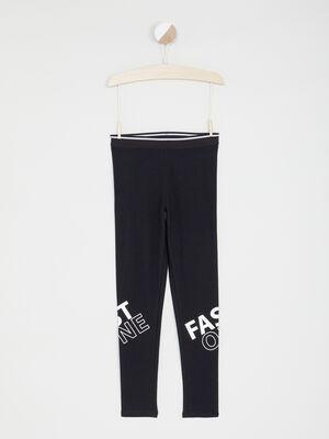 Legging avec imprime jambe noir fille