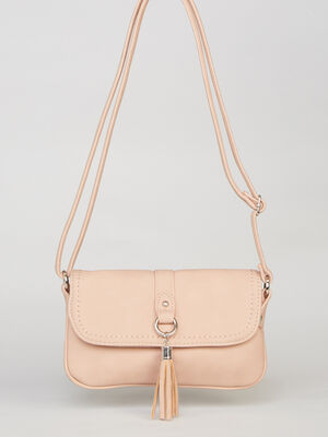 Sac en bandouliere double poche rose mixte