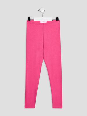 Pantalon legging rose fushia fille