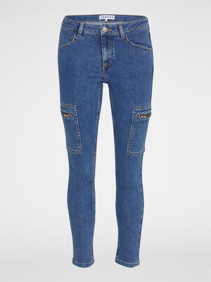 Jean a poches coupe slim denim double stone femme