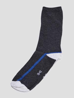 Lot 5 paires chaussettes gris homme