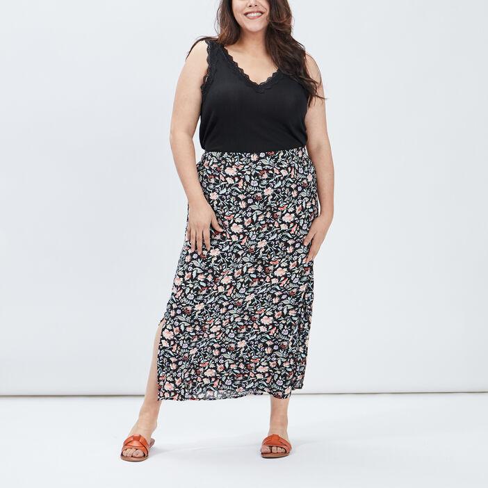 Jupe longue évasée femme grande taille multicolore