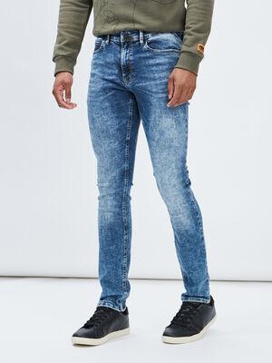 Jeans skinny stretch Creeks denim double stone homme