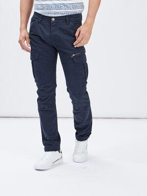 Pantalon regular Trappeur bleu marine homme
