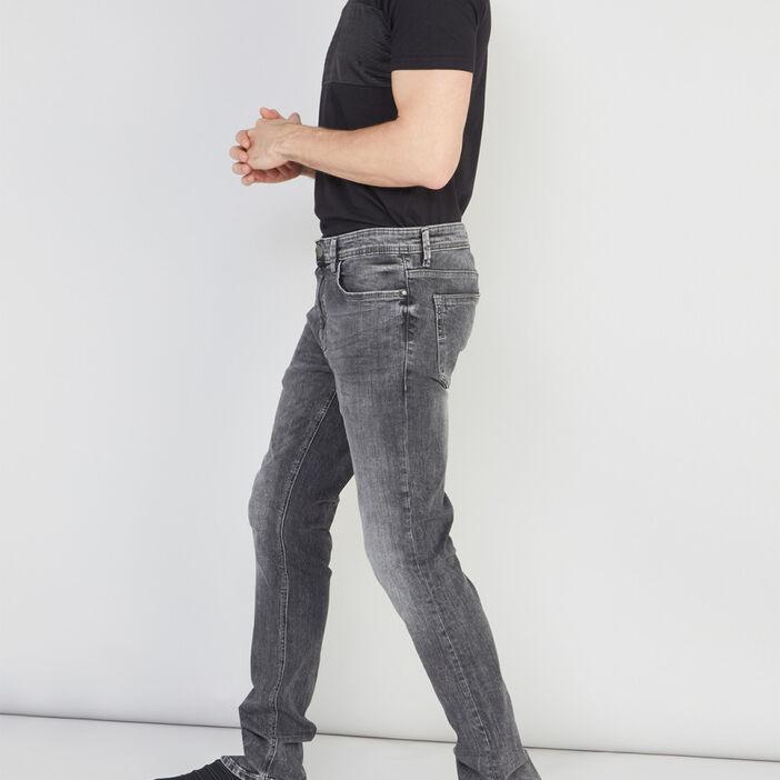 Jean skinny délavé homme denim stone