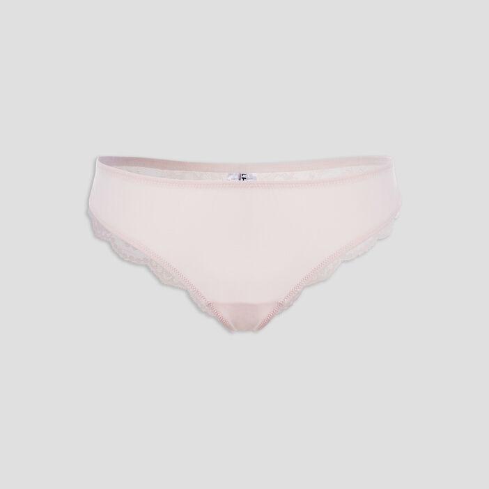 Culotte tanga femme rose clair