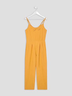 Combinaison pantalon droite jaune moutarde fille