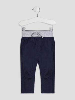 Pantalon droit elastique bleu marine bebeg