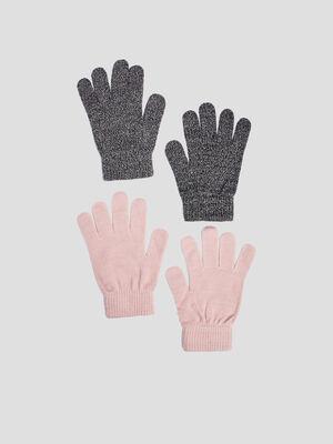 Lot 2 paires de gants ecru mixte