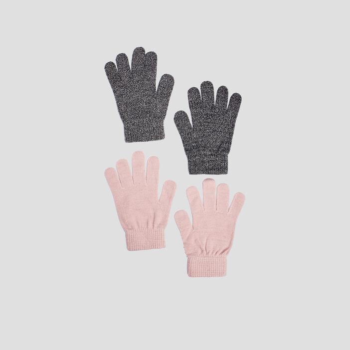 Lot 2 paires de gants mixte ecru