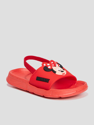 Claquettes Minnie rouge fille