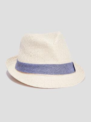 Chapeau trilby beige homme