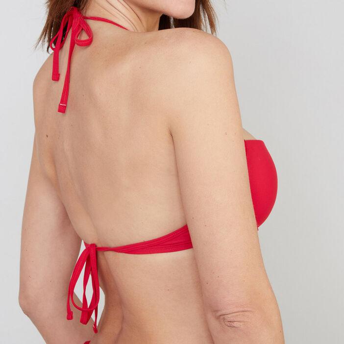 Haut maillot de bain bandeau Jazz femme rouge