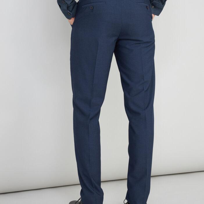 Pantalon zippé coupe slim homme bleu