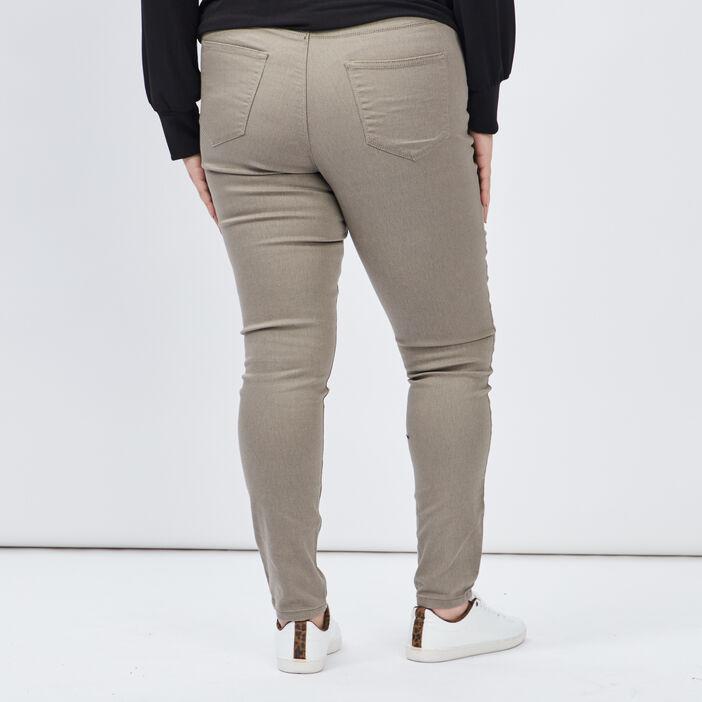 Jegging grande taille femme grande taille vert kaki