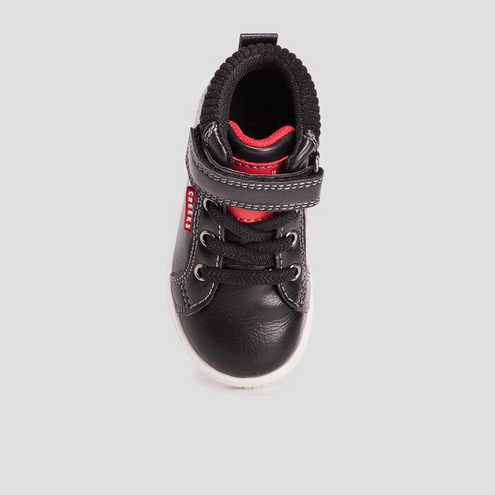 Baskets montantes Creeks bébé garçon noir