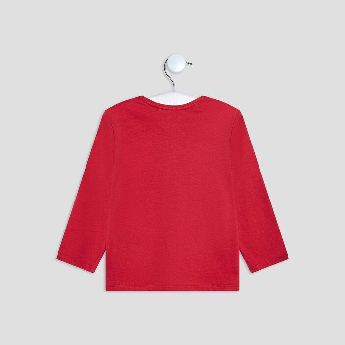 T-shirt manches longues bébé garçon rouge