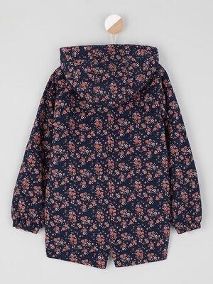 Manteau imprime fleuri boutonne multicolore fille