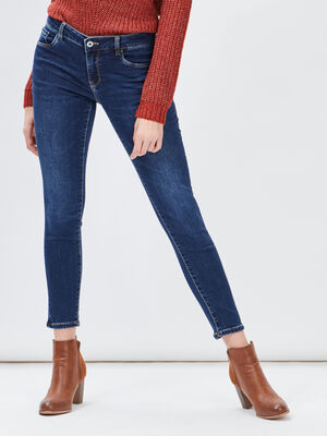 Jeans skinny taille basse denim stone femme