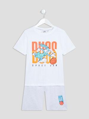 Ensemble pyjama Space Jam blanc garcon