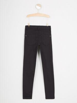 Pantalon skinny uni 5 poches noir fille