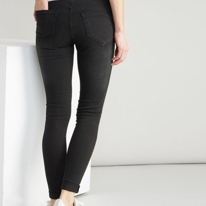 Jean skinny taille basse femme noir
