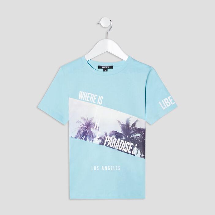 T-shirt Liberto garçon bleu turquoise