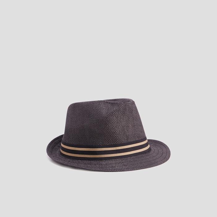 Chapeau avec bande garçon gris foncé