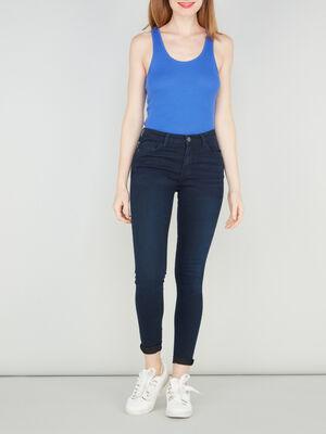 Jean skinny 5 poches denim blue black femme