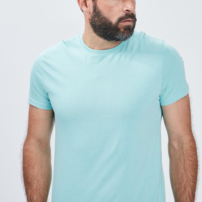 T-shirt manches courtes homme bleu turquoise