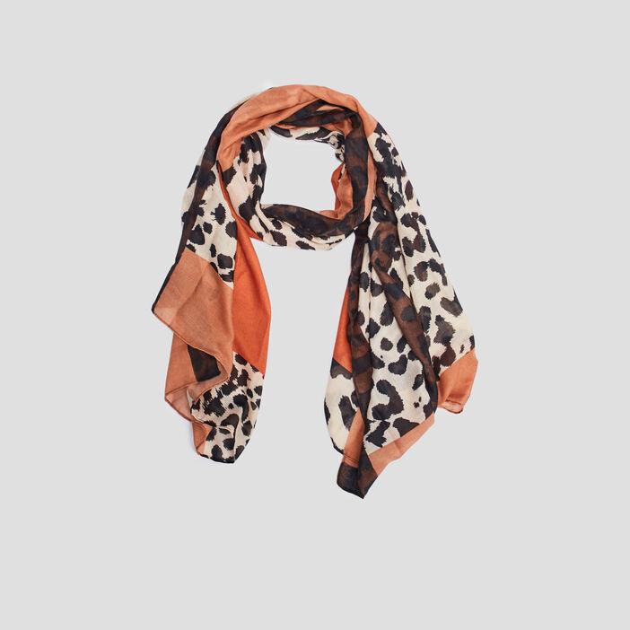 Foulard femme camel
