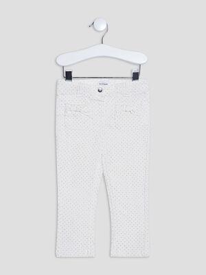 Pantalon slim ecru bebef