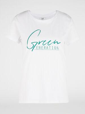 T shirt halleavenir 100 coton bio vert femme