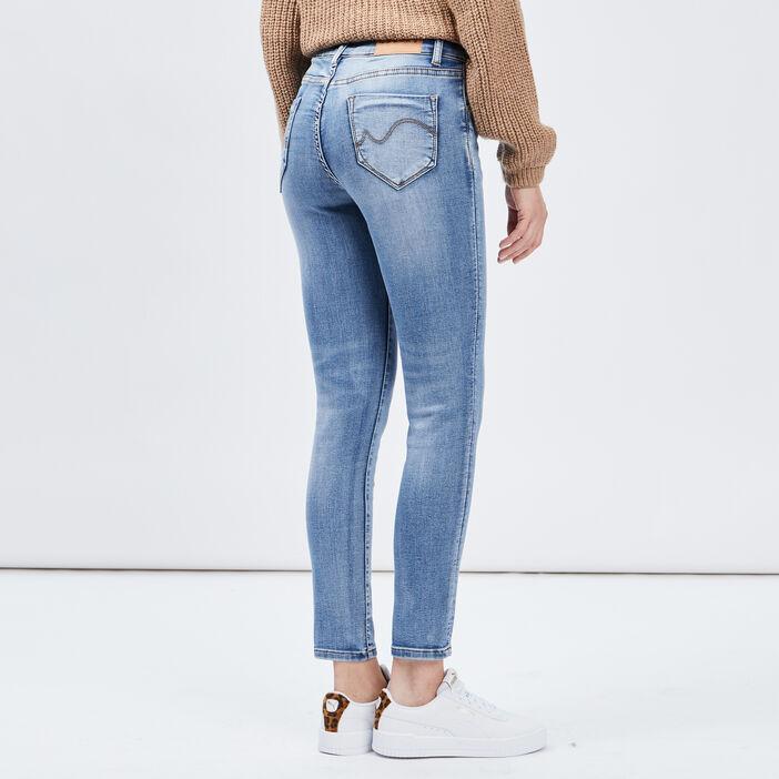 Jeans slim 7/8ème Creeks femme denim stone