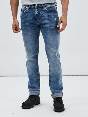 Jeans straight Creeks denim stone homme