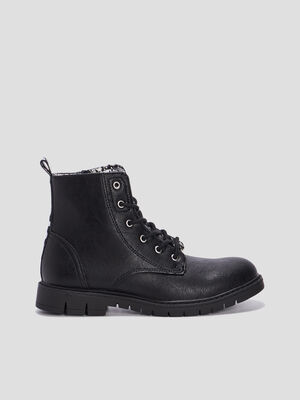 Bottines crantees Levis noir fille