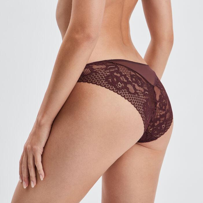 Culotte à dentelle femme violet