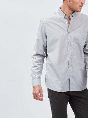 Chemise manches longues gris homme