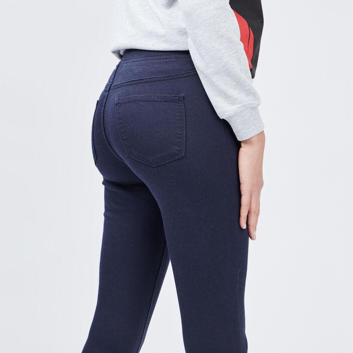 Jegging taille basse femme bleu marine