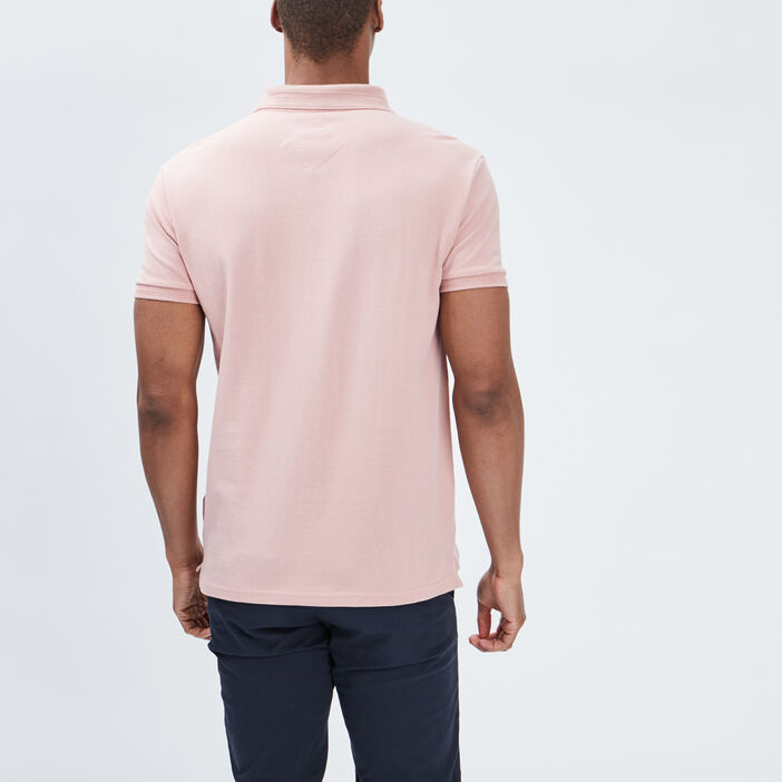 Polo manches courtes homme rose