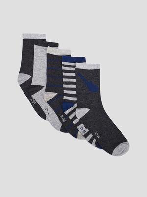 Chaussettes gris mixte
