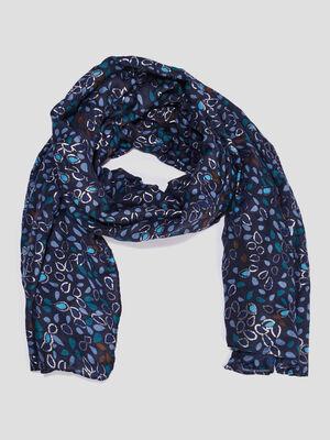 Foulard bleu femme