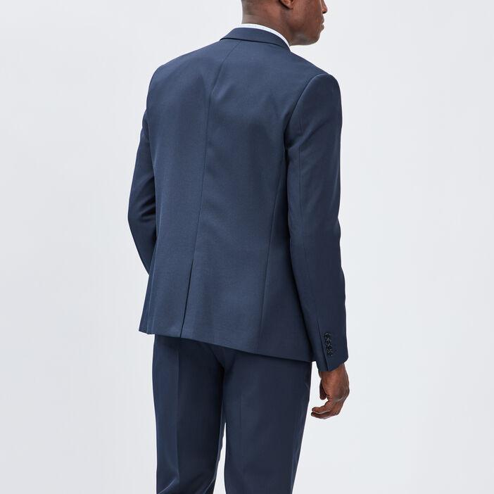 Veste droite boutonnée homme bleu marine