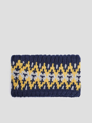 Snood double bleu marine mixte