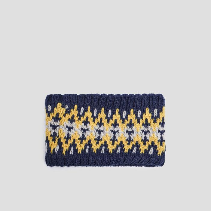 Snood doublé mixte bleu marine