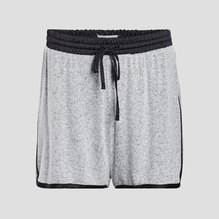 Short de pyjama femme gris